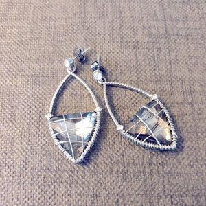 Silver Drop Earrings Francesca's Unique Earrings